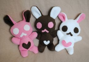 Neapolitan Bun Plush Trio by pookat
