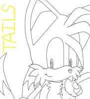 LineArt of Tails by SonicForTheWin2