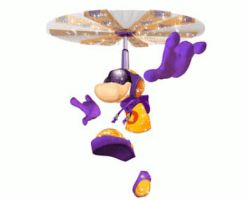 Animated Glitter Rayman - Throttle Copter by Keigenx