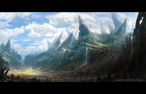 Chalky mountains by etwoo