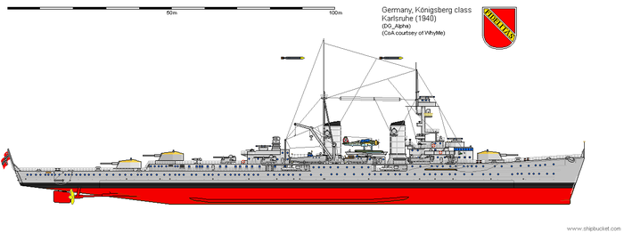 Light Cruiser Karlsruhe (1940) by DG-Alpha