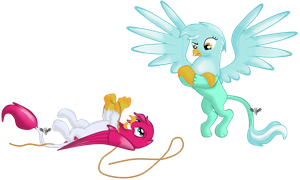 Griffonized Lyra and Phoe by WingWind