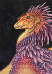 Rainbow Dragon ACEO by thedancingemu