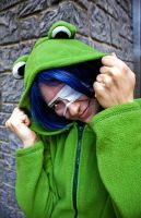 Agito frog hoodie by Cosmic-Empress