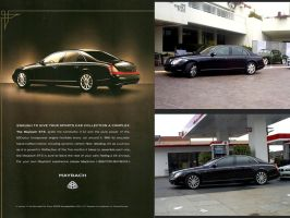 Cool car ads Maybach 57S by Partywave