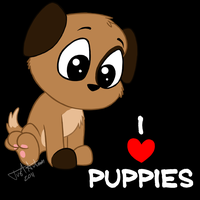 I Heart Puppies by JustAutumn