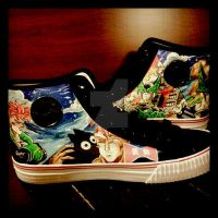 Android 16 and Super Cell Shoes by societymisfit