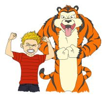 Calvin and Hobbes (Color) by DHK88