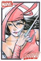 Elektra Sketch Card by elena-casagrande