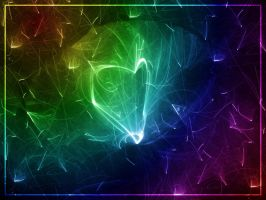 Fractals and Rainbows: Love by jb10rvd
