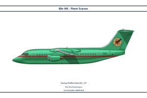 Fantasy 737 Bae 146 Planet Express by WS-Clave