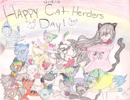 12/15/14 Cat-Herders Day! :3 by gkvfflowergirl