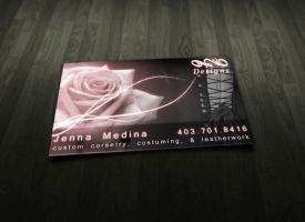 Jenna's Business Card by Vectortrance