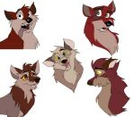 Balto Pups in Color by WolffNoelle