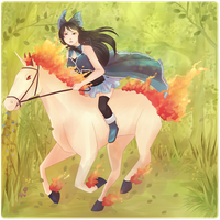 Riding Through The Forest by Elieda