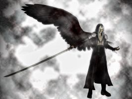Sephiroth The One-Winged Angel by DarthMael