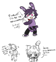 DOODLE/ Poor, Dreamer Bonnie by StarTheYoshi