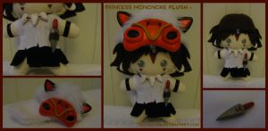 Princess Mononoke Plush by StitchedAlchemy