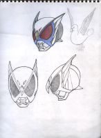 unknown mask rider design head by karlonne
