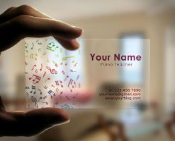 Transparent Business Cards Idea For Musicians by BorceMarkoski