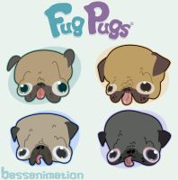 Fug Pugs by bassanimation