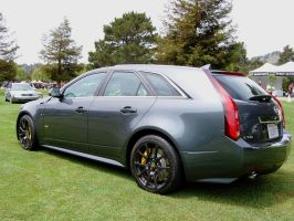Cadillac CTS-V wagon rear side view by Partywave