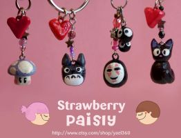 studio ghibli n' kawaii charms by yael360