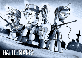 Battlemares poster by Dori-to