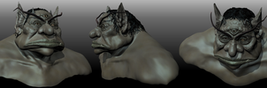 Ogre of Gormley Keep Digital 3D by paulrich