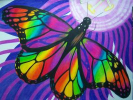 rainbow butterfly by ThomasG666