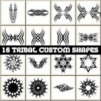 Tribal Custom Shapes by Brushportal by Brushportal