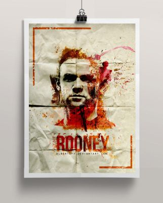 Wayne Rooney Poster (Watercolor Style) by AlbertGFX