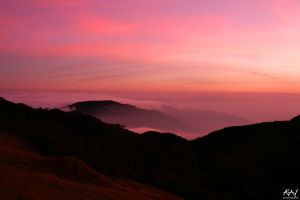 Sea of Clouds at Dusk by Kyrille