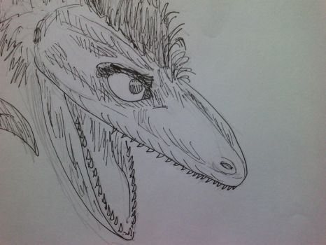 Dino Head 1 by chaosmembrane