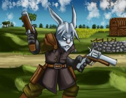 Rabbit marksman by YeyeiAlba