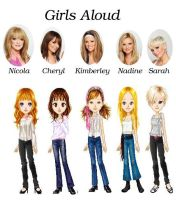 Girls Aloud chibi by Zebraanimator