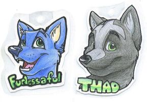 Thadius and Furlessaful Badges by bingles