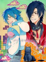 DRAMAtical Murder - Aoba and Koujaku by Laovaan