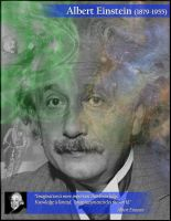 Einstein Poster: Imagination by AskGriff
