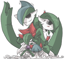 dark/ghost ralts evelution chain by Larcyn11
