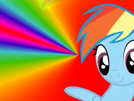 Rainbow Dash (small) Wallpaper by Apple-Jack1000