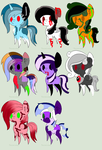 OPEN Creepy pony batch #2 (8/8) by TailinaPrower