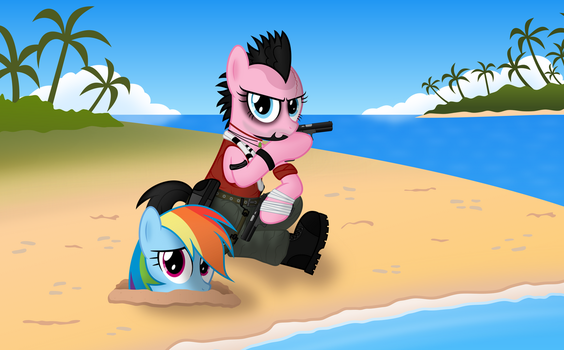 Pinkie Pie Cosplay: Vaas Montenegro, Far Cry 3 by Psyxofthoros