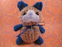 Brown and Blue Kitty Cat by AmiTownCreatures