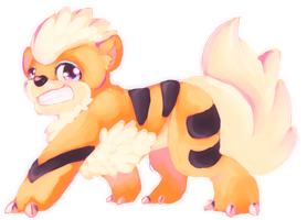 Growlithe for Deviantart Pokemon Collaboration by ObnoxiousGiraffe