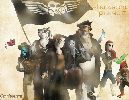 Treasure Planet II: Jim's new crew by Omnipotrent