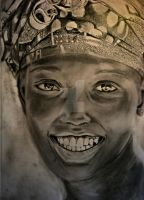 woman from Mali -- drawing by textmixer