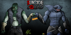 Killer Croc and King Shark - Suicide Squad by TyranneDragon