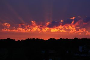 fire sunset by melmarc