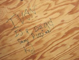 Written on the ceiling. by art4life217